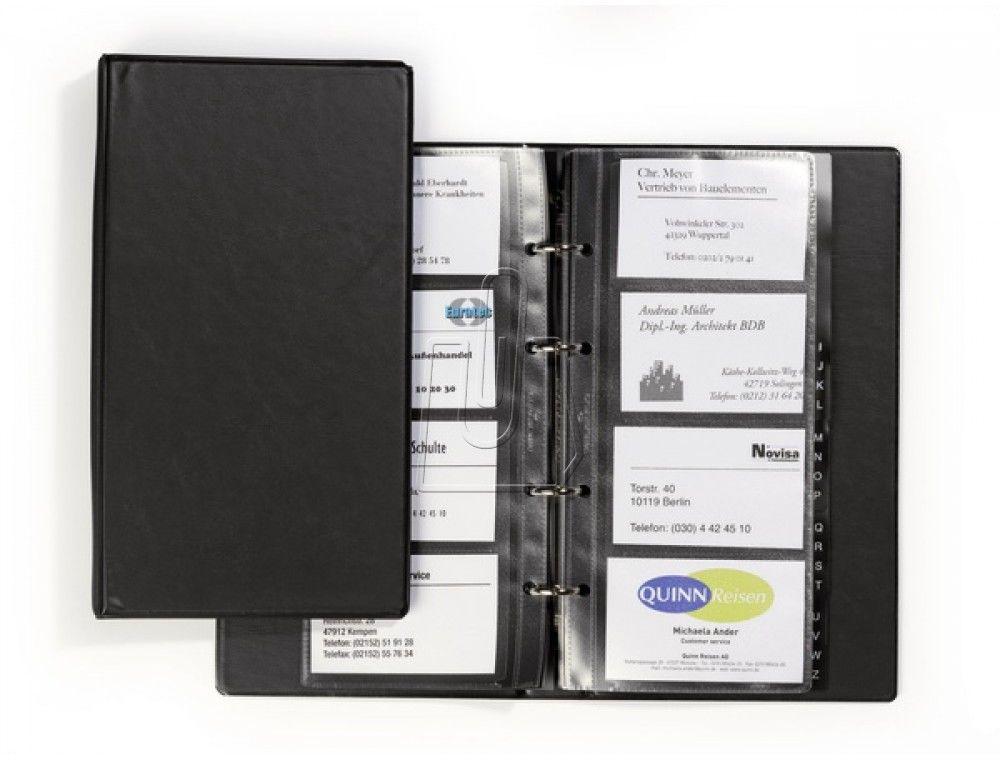 Wizytownik książkowy VISIFIX ECONOMY na 96 wizytówek czarny 2441 01