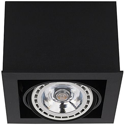 Oprawa natynkowa Box ES111 9495 Nowodvorski Lighting czarna oprawa w kształcie kostki