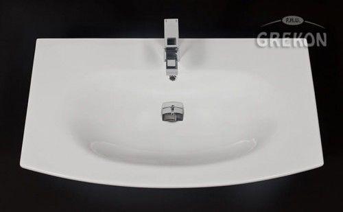Umywalka ceramiczna Java 90x51cm biała, Gante