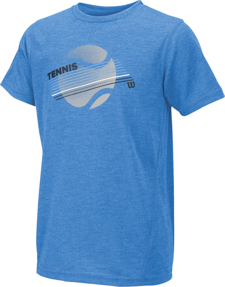 Wilson B Tennis Stripe Tech Tee - blue