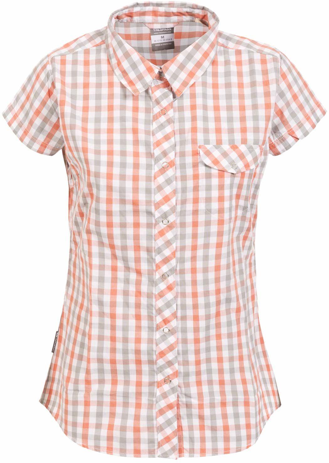 Trespass Tilley damska koszulka z krótkim rękawem Blush Check XS