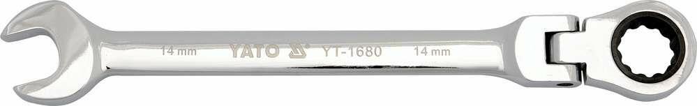 Klucz płasko-oczkowy z grzechotką i przegubem 15 mm Yato YT-1681 - ZYSKAJ RABAT 30 ZŁ