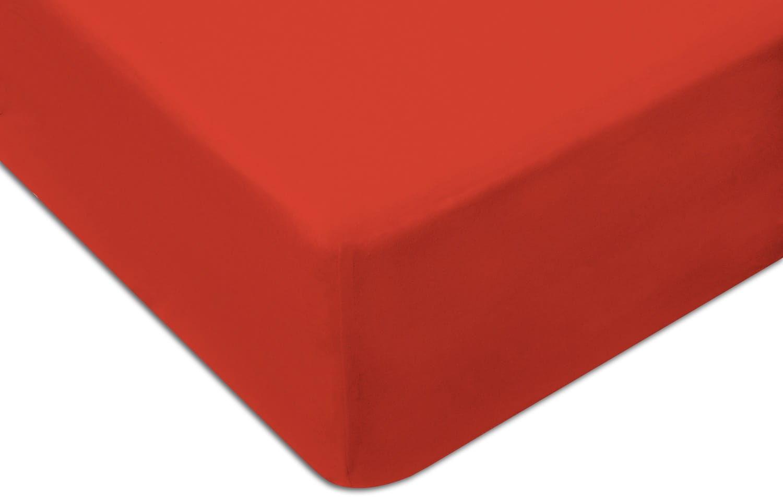 Prześcieradło Jersey 160x200 z gumką KOLOR czerwone
