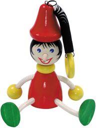 Hess 14707 drewniana huśtawka Pinoccio figurka zabawka dla dzieci, 13 cm, wielokolorowa