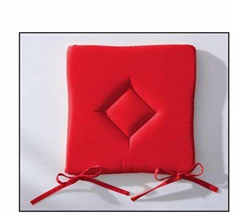 Today 261302 poduszka do siedzenia klasyczny poliester 40 x 40 cm, poliester, pompony, róż, 40 x 40 x 3 cm