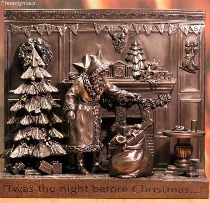 Święty Mikołaj Kominek Choinka