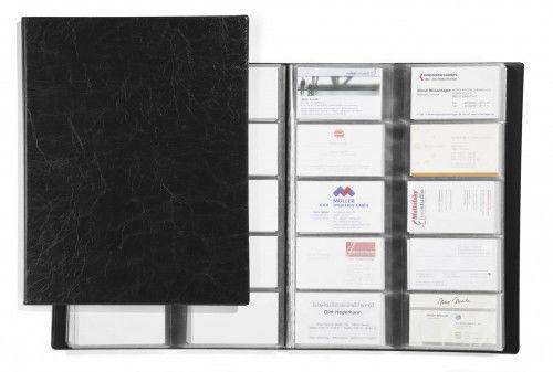 Wizytownik książkowy VISIFIX na 400 wizytówek czarny 2445 01