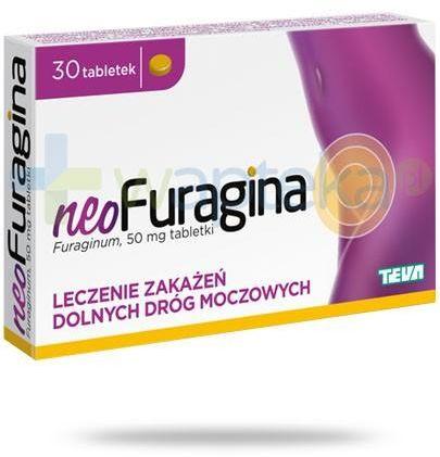 NeoFuragina 50mg leczenie zakażeń dróg moczowych 30 tabletek