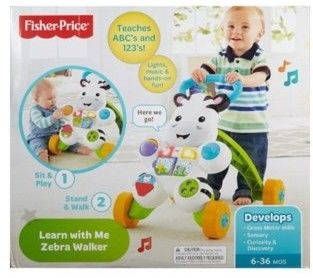 Fisher Price - Interaktywny Chodzik Zebra DPL53