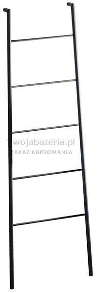 SEGA Wieszak na ręczniki, drabinka 170 cm, czarny mat SE104