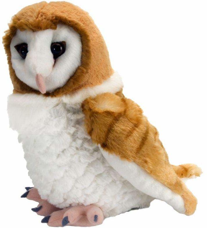 Wild Republic Sowa stodoła pluszowa pluszowa zabawka, przytulanka do przytulania, prezenty dla dzieci 30 cm