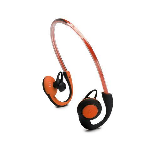 BOOMPODS Słuchawki douszne BT sportowe z oświetleniem pomarańczowe