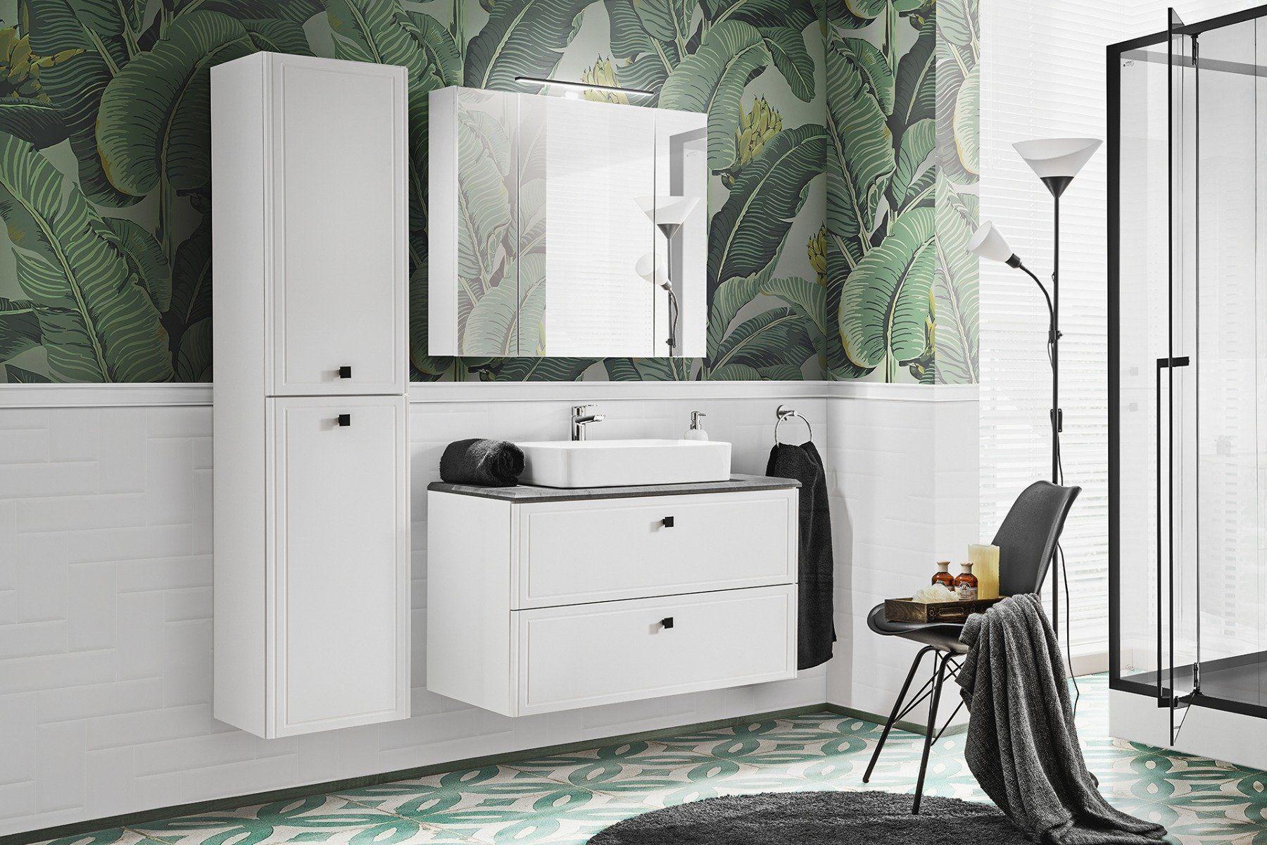 Szafka łazienkowa HAVANA WHITE 80 cm z lustrem  KUP TERAZ - OTRZYMAJ RABAT