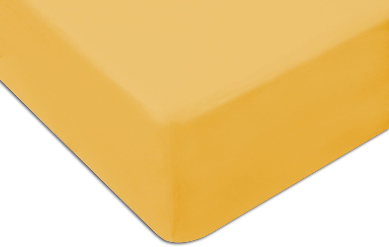 Prześcieradło Jersey 90x200 z gumką żółty