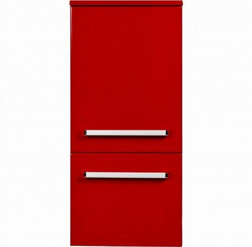 Regał łazienkowy czerwony 40x89cm, Styl Nowoczesny, Gante Fokus