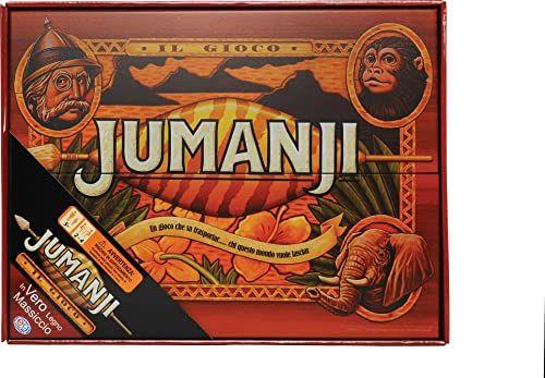 Cardinal Games 6045571 Deluxe Wood Jumanji - klasyczna gra retro lat 90