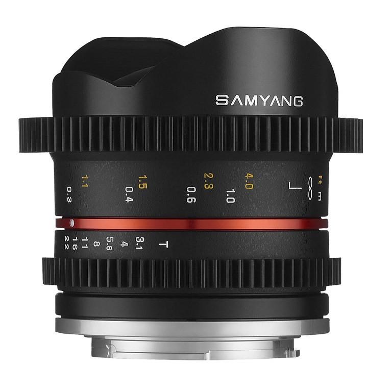 Obiektyw Samyang 8mm T3.1 Canon M Cine VDSLR