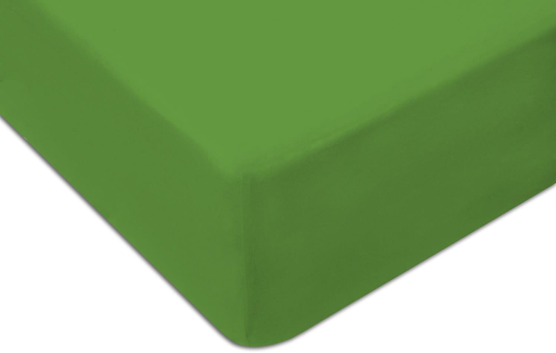 Prześcieradło Jersey 90x200 z gumką zielony