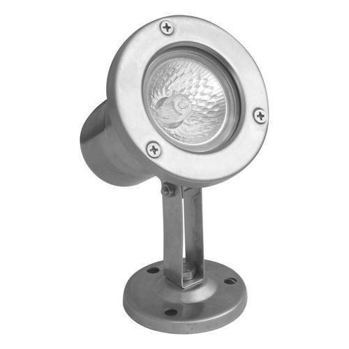 Reflektor Ogrodowy GU 5.3 srebrny Emy 7062 pod wodę w nowoczesnym stylu