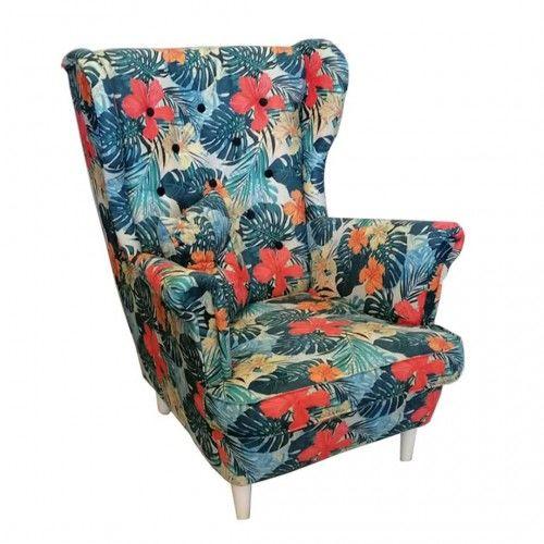 Fotel w kwiaty - USZAK 7