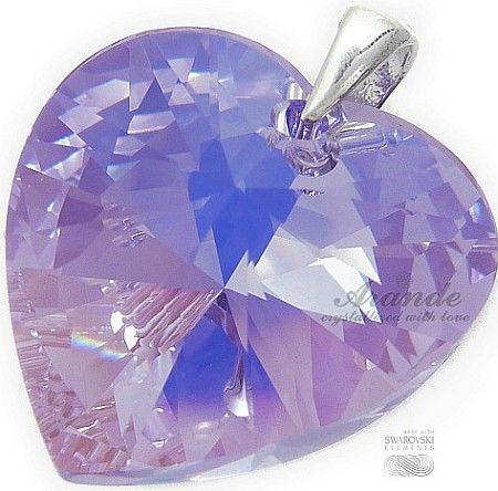 Swarovski Duży Wisiorek Kryształ 28Mm Violet Ab
