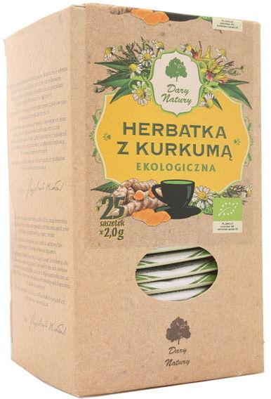 Herbatka z kurkumą ekologiczna BIO - Dary Natury - 25sasz