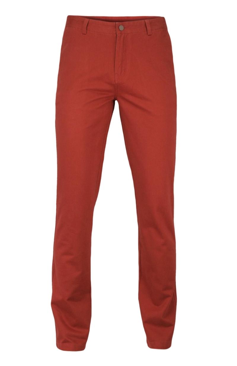Bawełniane Spodnie Męskie, CHINOSY, Zwężane Nogawki, Kolorowe, Czerwone SPEZREAL681red