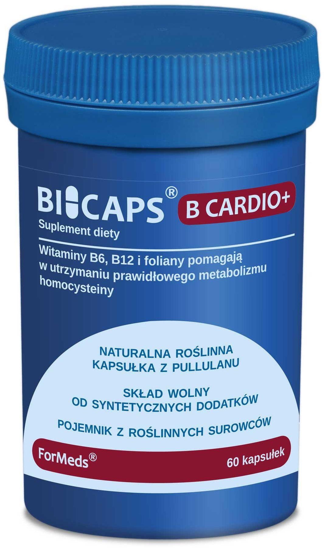 BICAPS B Cardio+ Witamina B6 B12 Foliany (60 kaps) ForMeds