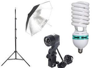 Lampa światła ciągłego 400W + parasol i statyw 230cm