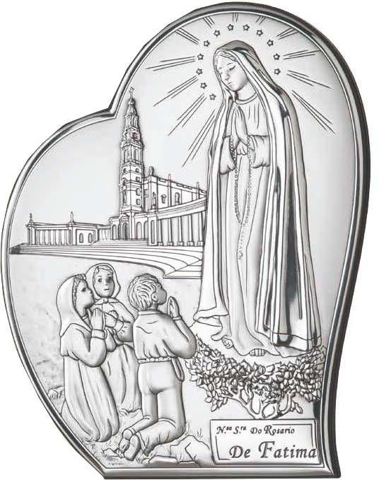 Obrazek srebrny Matka Boska Fatimska