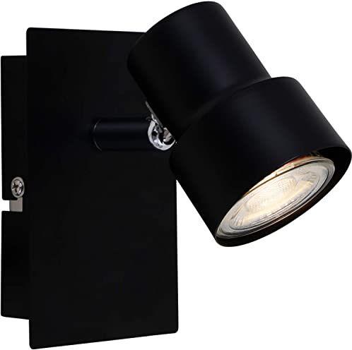 Briloner Leuchten Lampa punktowa LED, 1 źródło światła, reflektor obrotowy i wychylny, 1 x GU10, 5 W, 460 lumenów, 3000 kelwinów, kolor czarny