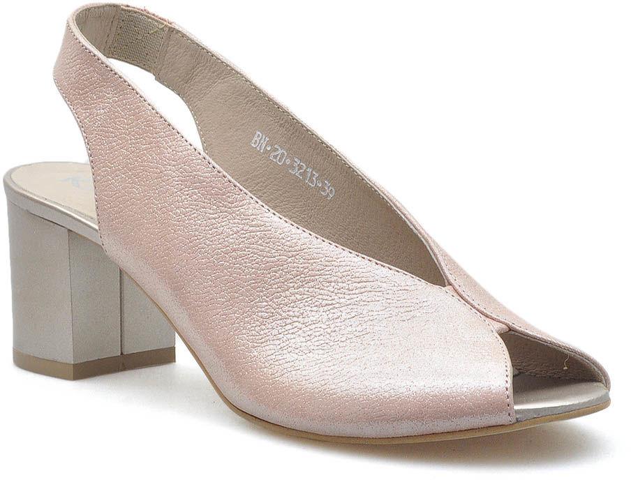 Sandały Karino 3213/074-P Różowe złoto lico