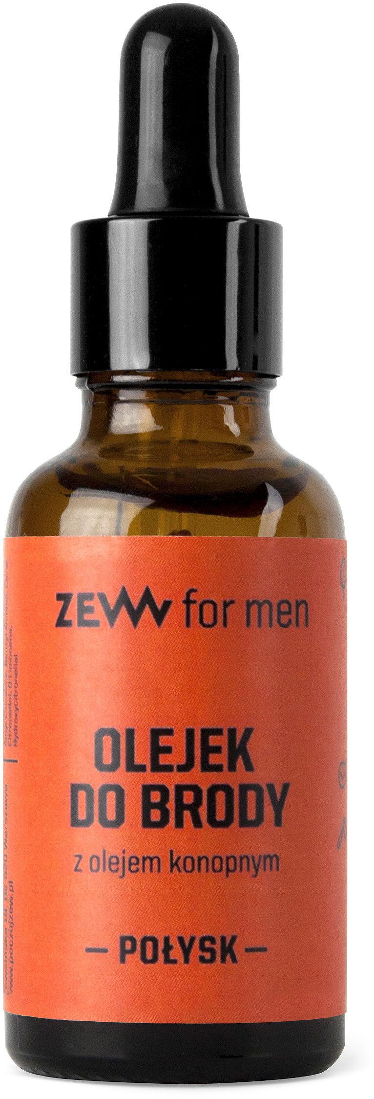 ZEW nabłyszczający olejek do brody z olejem konopnym 30 ml