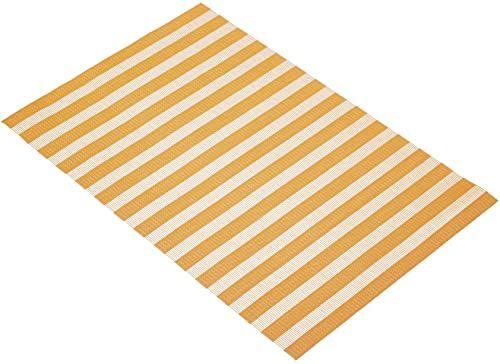 """KitchenCraft tkana podkładka winylowa, 45 x 30 cm (17,5"""" x 12"""") - pomarańczowe paski"""