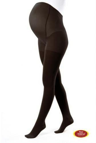 Pani Teresa Rajstopy uciskowe dla kobiet w ciąży Premium 1 klasa kompresji czarne rozmiar II 1 sztuka