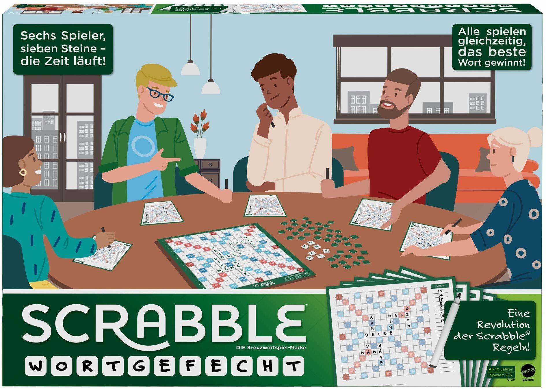 Mattel Games GTJ27 Scrabble gra planszowa dla graczy i graczy od 10 lat
