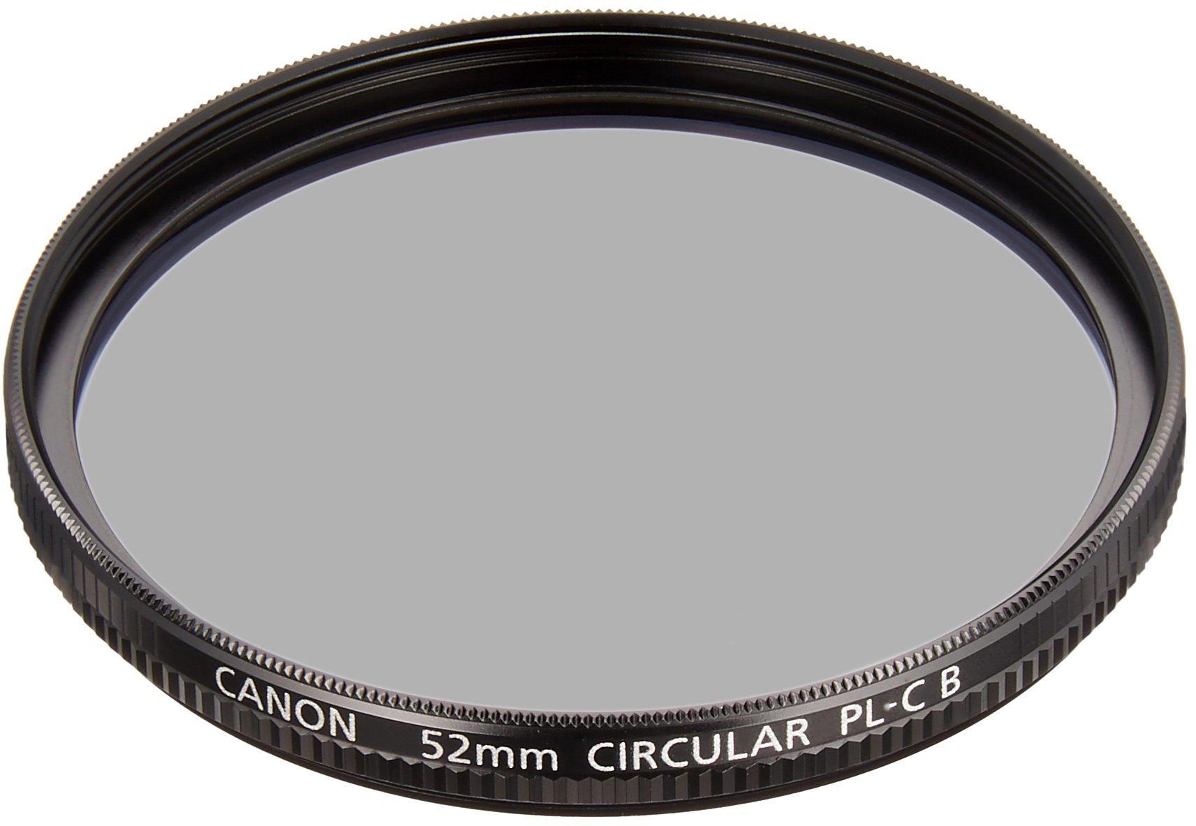 Canon PL-C B filtr polaryzacyjny 52 mm pasujący do każdej soczewki z gwintem 52 mm, czarny