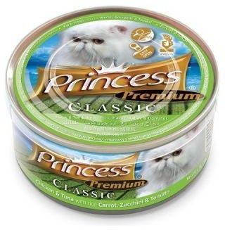 Princess Premium Kurczak, Tuńczyk, Marchew, Cukinia, Pomidor 170g