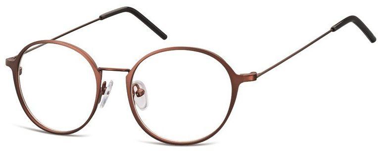Lenonki zerowki Oprawki okulary korekcyjne 971C brazowe