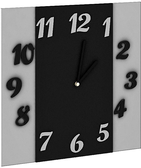 Zegar ścienny nowoczesny Sigan - szary