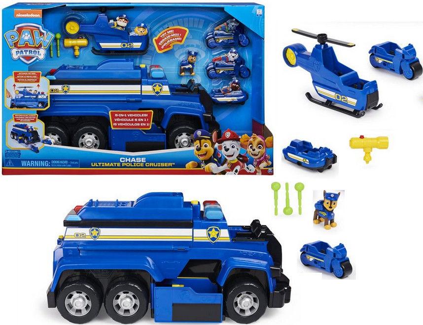 Psi Patrol Chase Mega Transporter policyjny z pojazdami i figurką 20125845 6058329
