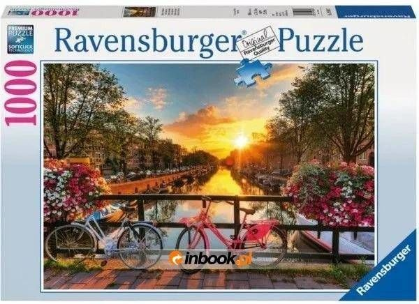 Puzzle 1000 Rowery w Amsterdamie - Ravensburger