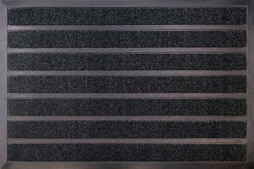 ID Mat 609020 Combi Brush wycieraczka z gumy/włókna polipropylenowego, 90 x 60 x 0,94 cm, brązowa, 60 x 90 cm