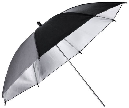 Godox UB-002 Black-Silver Umbrella - modyfikator światła, parasolka czarno-srebrna 101cm (40'') Godox UB-002 Black-Silver Umbrella