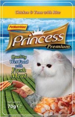Princess Premium Kot Kurczak, tuńczyk i ryż saszetka 70g