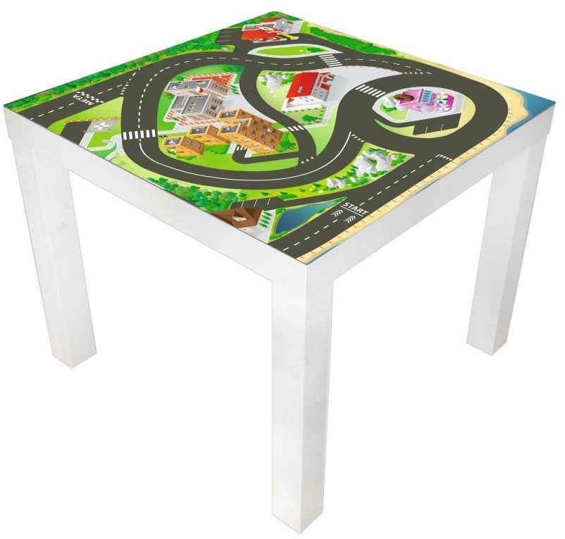Naklejka na stolik tor wyścigowy 2