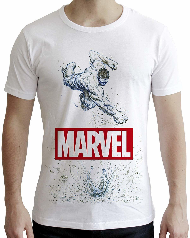"ABYstyle - MARVEL - T-shirt -""Marvel Hulk"" - mężczyźni - biały (XL)"