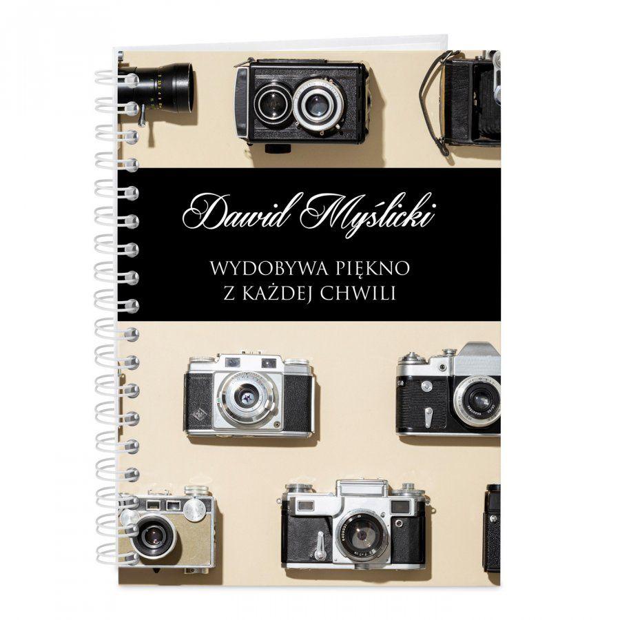 Notatnik kołonotatnik z nadrukiem dla fotografa