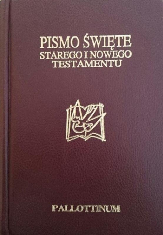 Biblia Tysiąclecia mała Pielgrzyma miękka ekoskóra złoto brąz