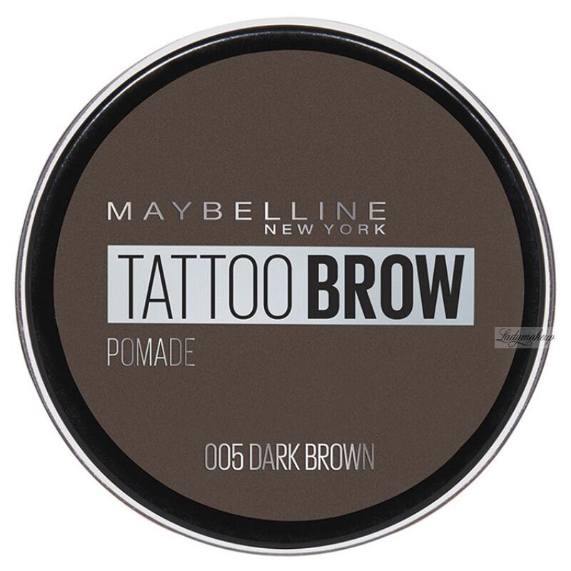 MAYBELLINE - TATTOO BROW Lasting Color Pomade - Wodoodporna pomada do brwi - 05 DARK BROWN